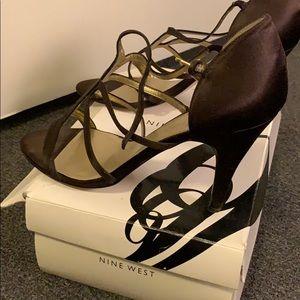 Nine West Satin Heeled Sandals